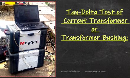 Tan Delta Testing of CT/Bushing
