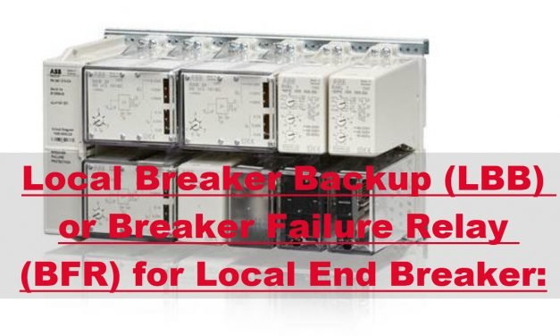 What is Local Breaker Backup or Breaker Failure Relay for Protection of Local end Breaker